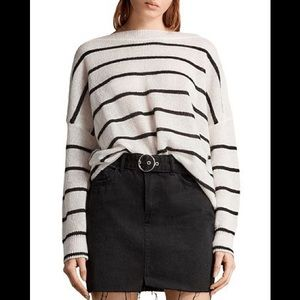 ALLSAINTS Misty Striped Slouchy Sweater M